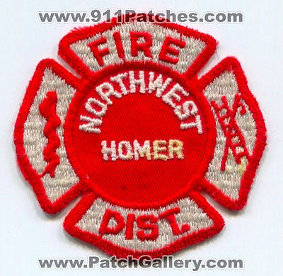 Northwest Homer Fire District Department Rescue EMS Patch Illinois IL OLD USED - SKU148