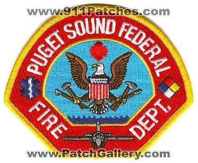 Puget Sound Federal Fire Department Rescue USN Navy Military Patch Washington WA