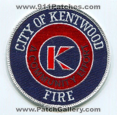 Kentwood Fire Department Dept KFD Rescue EMS City of Patch Michigan MI - SKU98