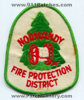 Normandy Fire Protection District Department Rescue EMS Patch Missouri MO OLD