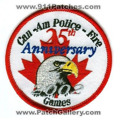 Can Am Police Fire 2002 Games 25th Anniversary Rescue EMS Patch Washington WA - SKU51