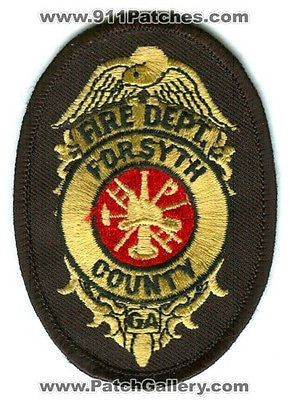 Forsyth County Fire Department Dept FCFD Rescue EMS Patch Georgia GA Patches Blk