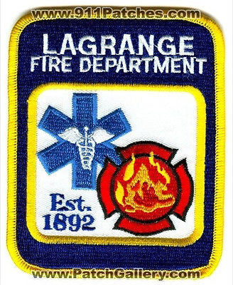 LaGrange Fire Department Dept LFD Rescue EMS Patch Illinois IL Patches NEW