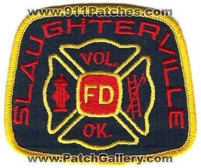 Slaughterville Volunteer Vol Fire Department Dept Rescue EMS Patch Oklahoma OK - SKU173