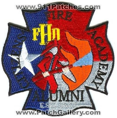 Houston Fire Department Citizens Academy Alumni HFD Rescue EMS Patch Texas TX