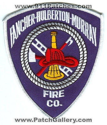 Fancher Hulberton Murray Fire Company Co Department Rescue EMS Patch New York NY - SKU73