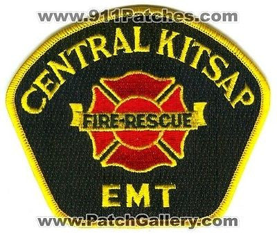 Central Kitsap Fire Rescue Department EMT EMS Patch Washington WA Yellow SKU53 SKU125 SKU165 SKU249