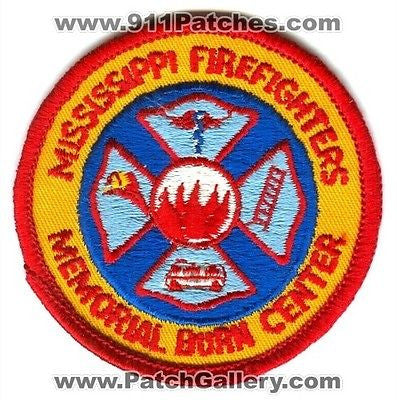 Mississippi FireFighters Memorial Burn Center Fire Department Rescue Patch Mississippi MS