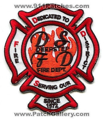 Deepstep Fire Department District Dept FD Rescue EMS Patch Georgia GA Patches