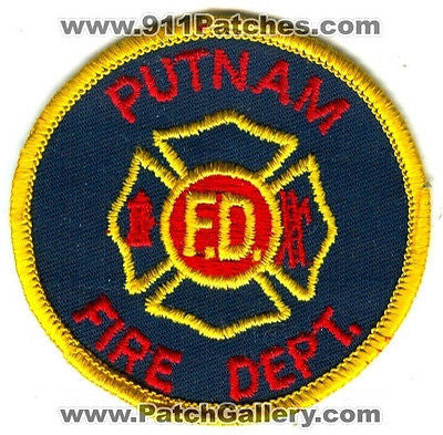 Putnam Fire Department Dept PFD Rescue EMS Patch New York NY Patches OLD USED - SKU164