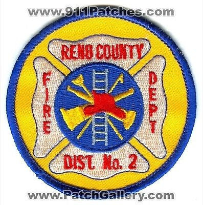 Reno County Fire Department Dept FD District Number 2 Rescue EMS Patch Kansas KS SKU118 SKU166