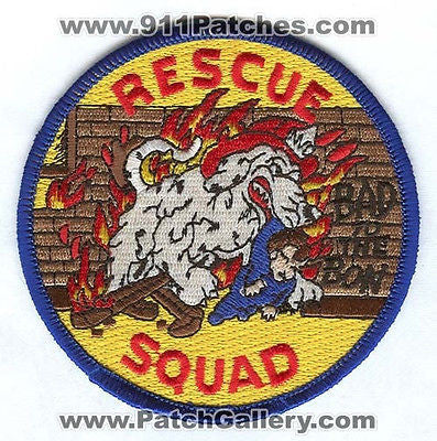New Orleans Fire Department Rescue Squad Dept NOFD EMS Dog Patch Louisiana LA