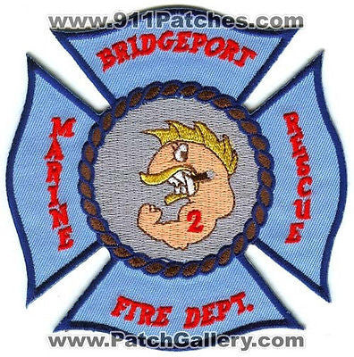 Bridgeport Fire Department Marine Rescue 2 Company Station Patch Connecticut CT - SKU49