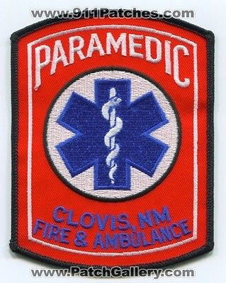 Clovis Fire and Ambulance Department Paramedic EMS Rescue Patch New Mexico NM