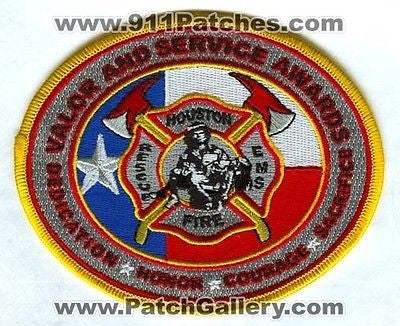 Houston Fire Department HFD Valor and Service Awards Rescue EMS Patch Texas TX - SKU90
