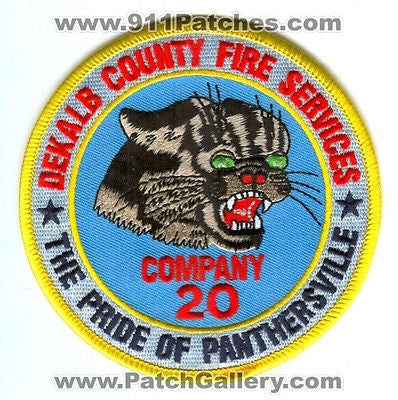 Dekalb County Fire Rescue Department Company 20 Station DCFD Patch Georgia GA