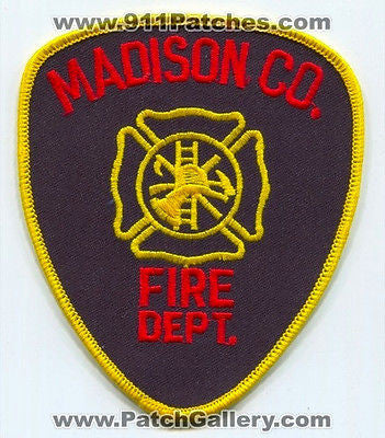 Madison County Fire Department Dept FD Rescue EMS Co Patch Georgia GA - SKU110