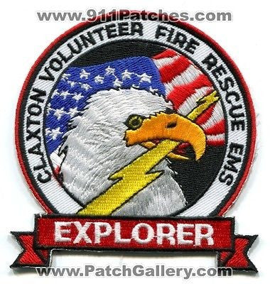 Claxton Volunteer Fire Rescue EMS Department Explorer Eagle Patch Georgia GA