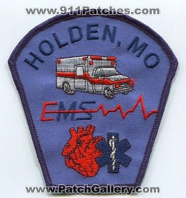 Holden Emergency Medical Services EMS EMT Paramedic Fire Patch Missouri MO