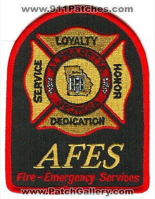 Alpharetta Fire Emergency Services AFES Department Rescue EMS Patch Georgia GA