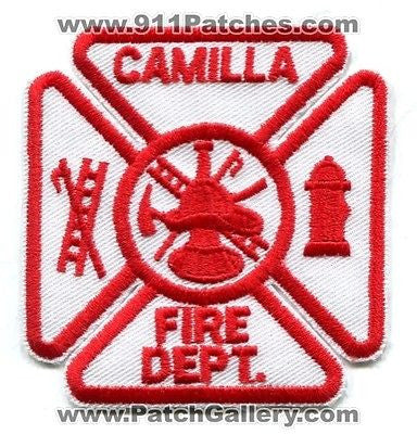 Camilla Fire Department Dept FD Rescue EMS Patch Georgia GA Patches