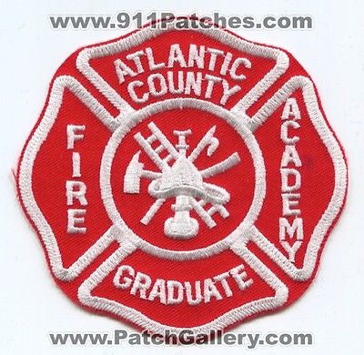 Atlantic County Fire Academy Graduate School Department EMS Patch New Jersey NJ - SKU40