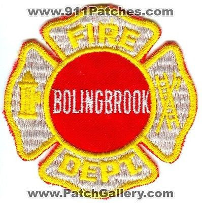 Bolingbrook Fire Department Dept FD Rescue EMS Patch Illinois IL Patches OLD v1 SKU46