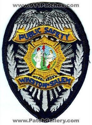 Winston Salem Public Safety Department DPS Fire Police Patch North Carolina NC