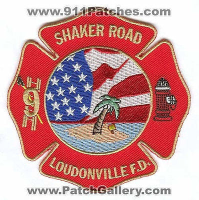 Loudonville Fire Department Shaker Road 9 Patch New York NY SKU118 SKU305