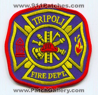 Tripoli Fire Department Dept TFD Rescue EMS Patch Wisconsin WI Patches NEW - SKU184