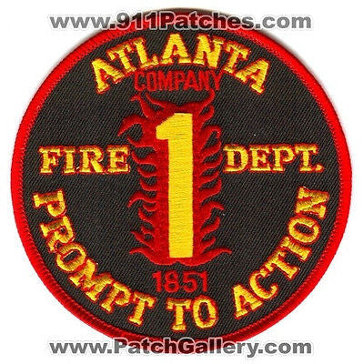 Atlanta Fire Department Company 1 Station AFD Rescue EMS Patch Georgia GA O/S