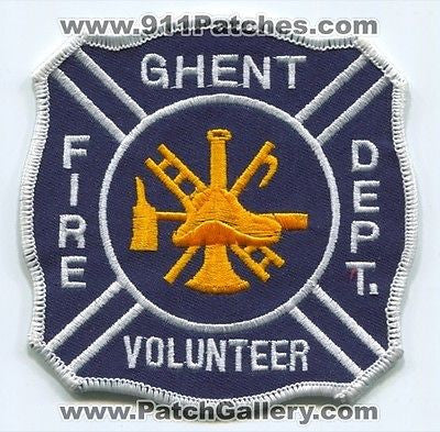 Ghent Volunteer Fire Department Dept FD Rescue EMS Patch West Virginia WV NEW