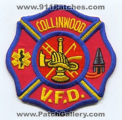 Collinwood Volunteer Fire Department Dept VFD Rescue EMS Patch Tennessee TN SKU267