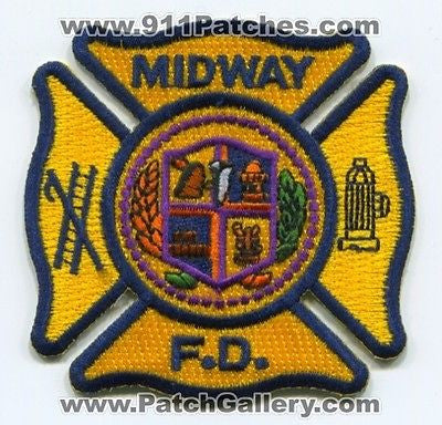 Midway Fire Department Dept MFD Rescue EMS Patch New York NY Patches NEW - SKU127