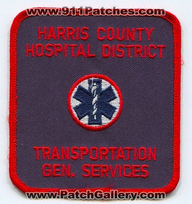 Harris County Hospital District Transportation Services EMS Fire Patch Texas TX - SKU84