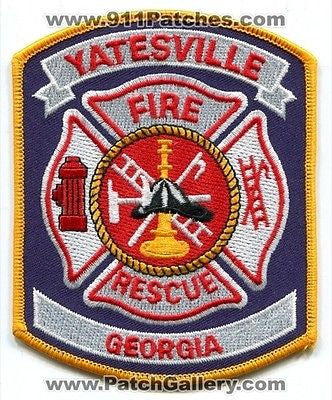 Yatesville Fire Rescue Department Dept FD EMS Patch Georgia GA Patches NEW - SKU195