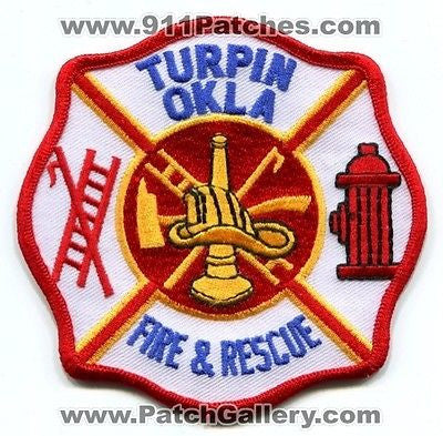 Turpin Fire and Rescue Department Dept FD EMS Patch Oklahoma OK Patches
