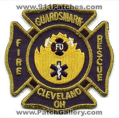 Guardsmark Fire Rescue Department Cleveland Dept FD EMS Patch Ohio OH Patches - SKU83