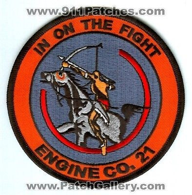 Denver Fire Department Engine Company 21 Dept DFD Rescue Patch Colorado CO