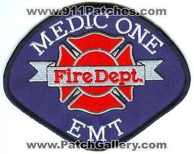 Pierce County Fire Dept District 18 Medic One 1 EMT EMS Patch Washington WA