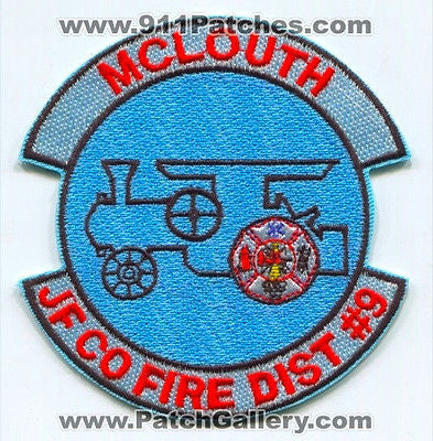 McLouth Fire Department Jefferson County Fire District Number 9 Patch Kansas KS SKU305