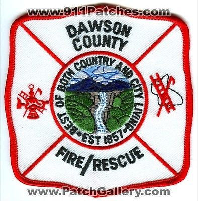 Dawson County Fire Rescue Department Dept FD EMS Patch Georgia GA Patches NEW