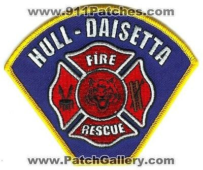 Hull Daisetta Fire Rescue Department Dept HDFD EMS Patch Texas TX Patches NEW SKU87