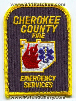 Cherokee County Fire Emergency Services Dept Rescue EMS Patch Georgia GA O/S