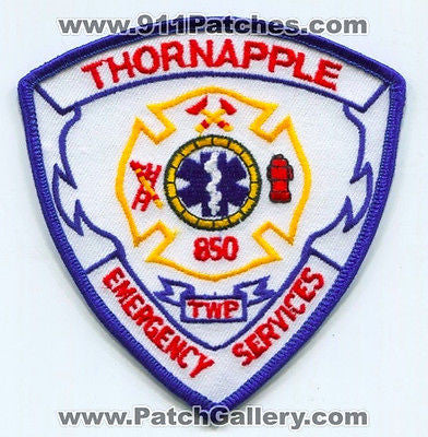 Thornapple Township Emergency Services Fire EMS 850 Patch Michigan MI
