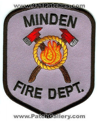 Minden Fire Department Dept MFD Rescue EMS Patch Nebraska NE