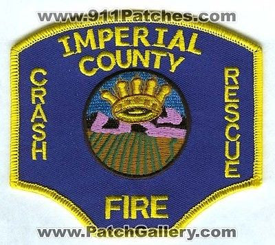 Imperial County Airport Crash Fire Rescue CFR ARFF Airport Patch California CA