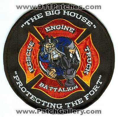 Fort Wayne Fire Station 1 Company Engine Truck Rescue Batt Ft Patch Indiana IN - SKU76
