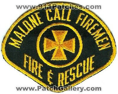 Malone Callfiremen Fire and Rescue Department Dept FD EMS Patch New York NY OLD