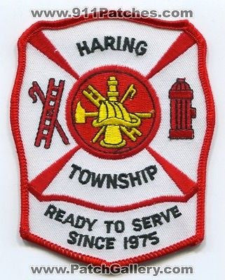 Haring Township Twp Fire Department Dept FD Rescue EMS Patch Michigan MI Patches